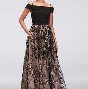 Nightway Embroidered Prom Dress